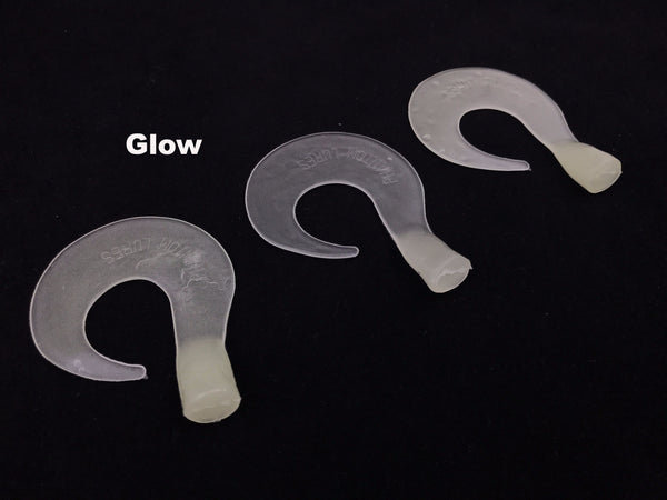 "Phantom Lures 6"" Replacement Tails - Glow"