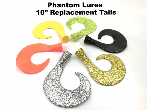 "Phantom Lures 10"" Replacement Tails (2 pack)"