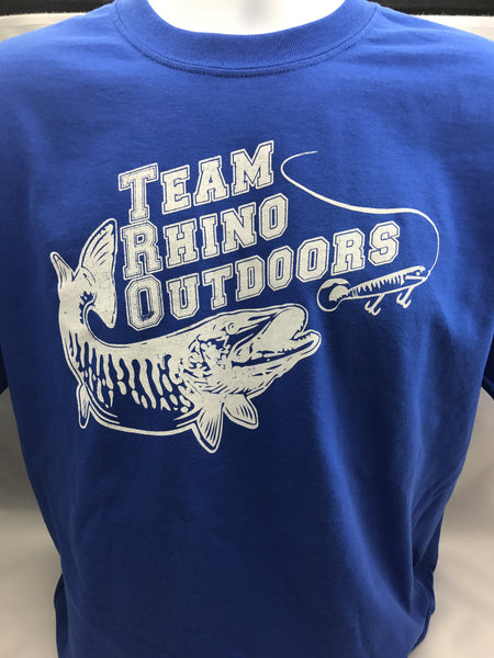 Team Rhino Outdoors - Royal Blue/White Short Sleeve Classic Logo T