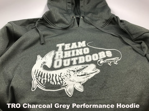 TRO -  Charcoal Grey/White Performance Hoodie