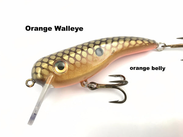 Llungen Lures .22 Short SS - Orange Walleye