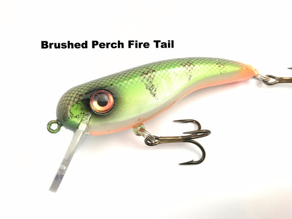Llungen Lures .22 Short SS - Brushed Perch Fire Tail