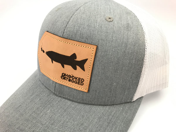 Hooked and Tagged Musky Patch Hat