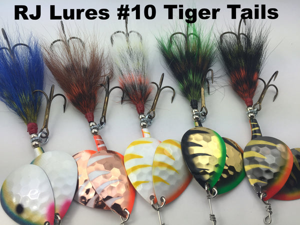 RJ Lures #10  Tiger Tails