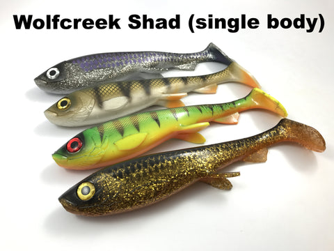 "Wolfcreek Lures 9"" Shad (single body)"