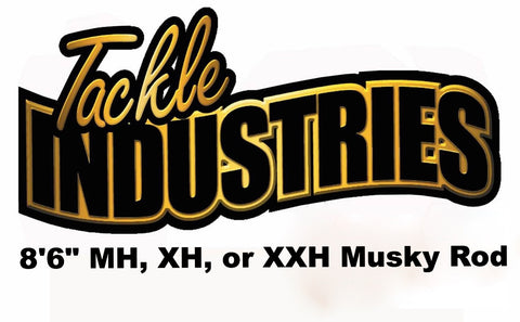 "Tackle Industries - 8' 6"" Musky Rod (MH, XH, or XXH) - Shipping to WI, IL, MN, Iowa only."