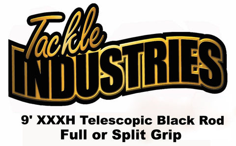 Tackle Industries - 9' XXXH Telescopic Black Musky Rod (Full or Split Grip)