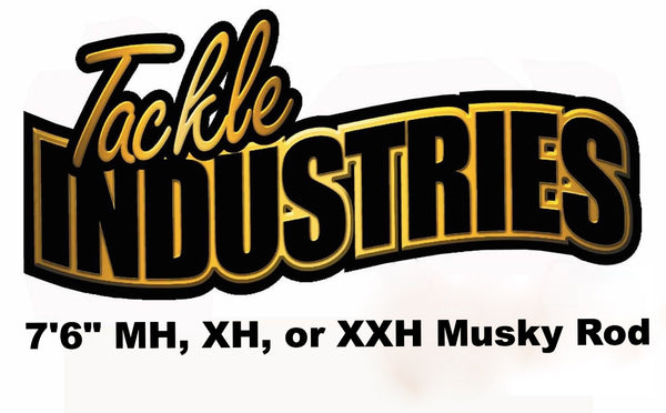 "Tackle Industries - 7' 6"" Musky Rod 1 Piece (MH, XH, or XXH)"