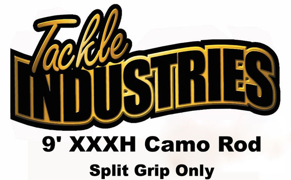 Tackle Industries - 9' XXXH Telescopic Camo Musky Rod (Split Grip)