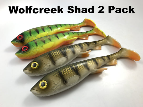 "Wolfcreek Lures  9"" Shad 2 Pack"