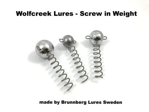 Wolfcreek Lures Screw in Weight (2 pack)