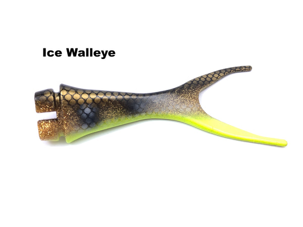 Musky Innovations Shallow Invader Replacement Tails - Ice Walleye