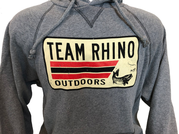 Team Rhino Outdoors - Gunmetal License Plate Logo Hoodie