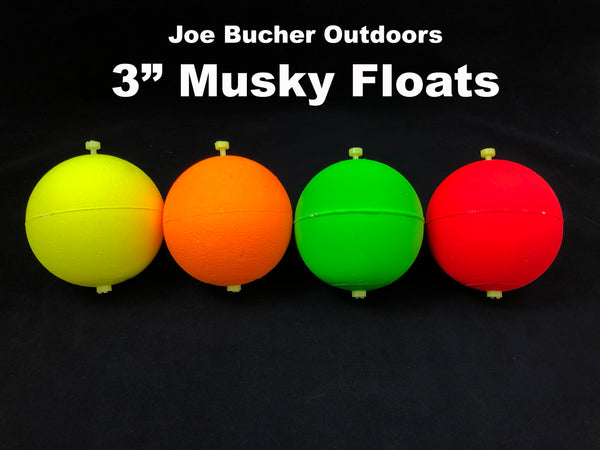 "Joe Bucher Outdoors 3"" Musky Floats"