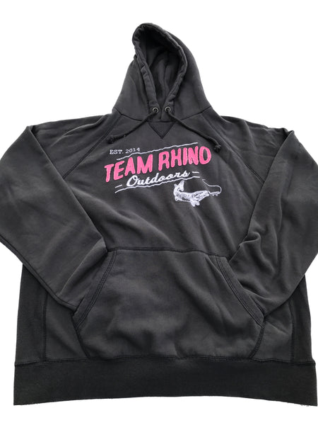 Team Rhino Outdoors -Dark Navy/Pink Appliqué  Hooded Sweatshirt