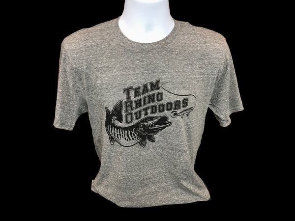 TRO - Heather Grey/Black Logo Tri Blend T Shirt
