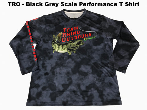 TRO - Black Grey Scale Long Sleeve Performance T