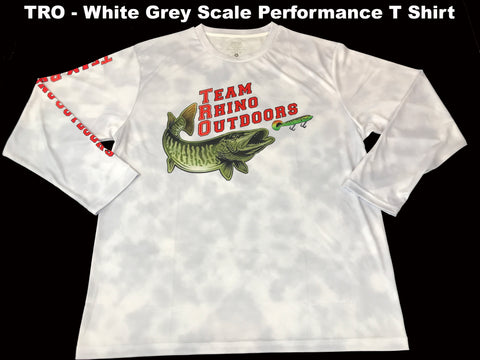 TRO - White Grey Scale Long Sleeve Performance T