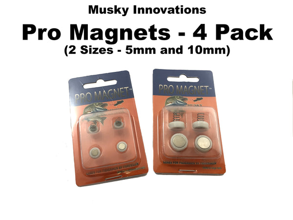 Musky Innovations Pro Magnets - 4 Pack (2 Sizes - 5mm and 10mm)