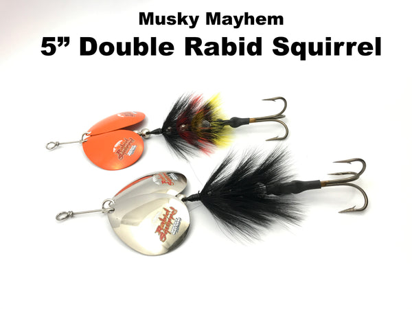 "Musky Mayhem 5"" Double Colorado Rabid Squirrel"