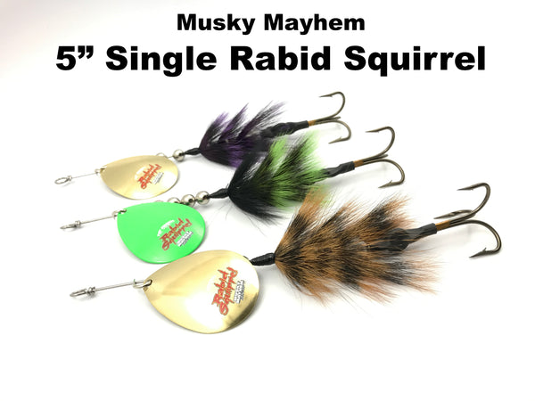 "Musky Mayhem 5"" Single Colorado Rabid Squirrel"