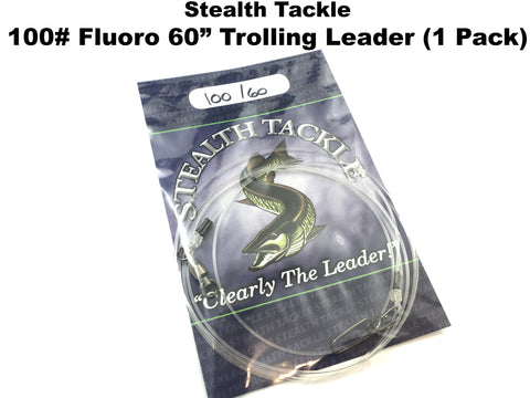 "Stealth Tackle - 100# 60"" Fluorocarbon Small Bait Trolling Leader (ST100T 60"")"