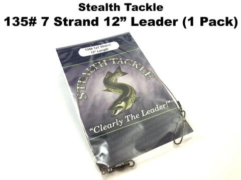 Stealth Tackle - 135# Non Coated 7 Strand Casting Leader 1 Pack (ST135)