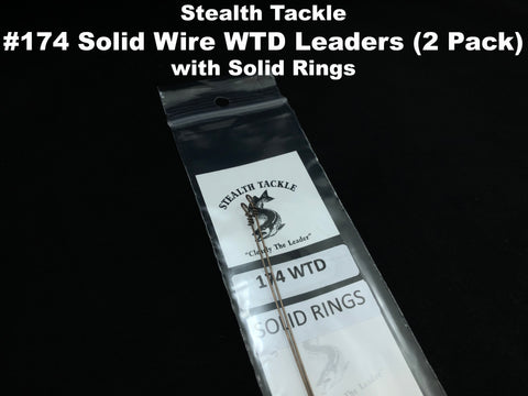 Stealth Tackle - 174# WTD Wire Leaders w/solid ring (2 pack ST174WTD Solid)