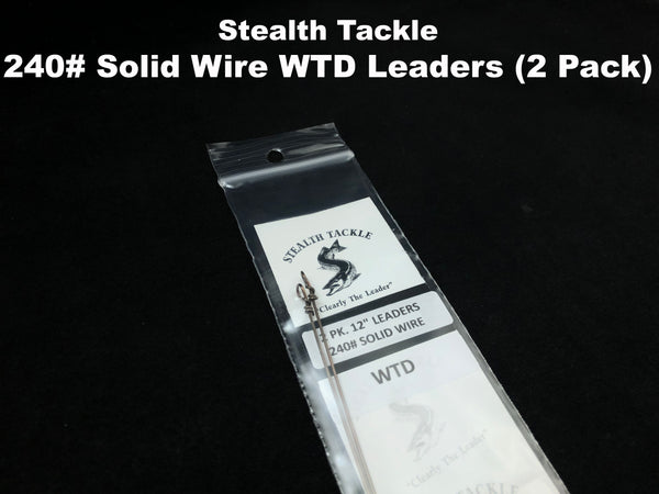 Stealth Tackle - 240#  WTD Solid Wire Leaders (2 pack ST240G)