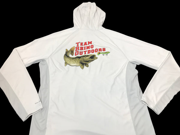 Simms Fishing Tundra Grey SolarFlex Hoody with TRO Logo