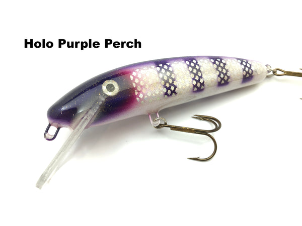 "Slammer Tackle 5"" Shallow Minnow - Holo Purple Perch"