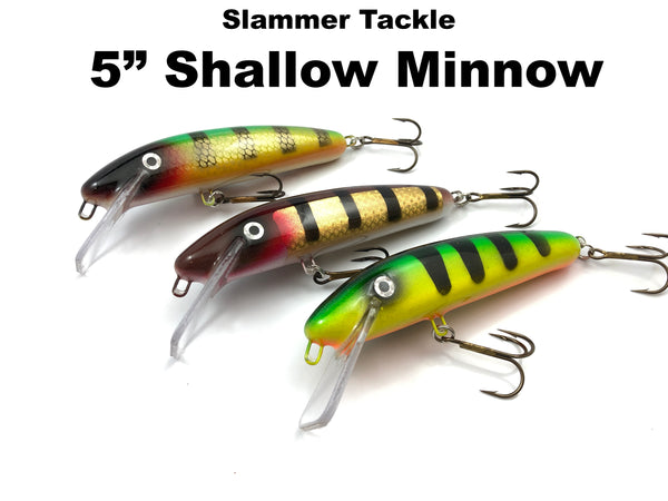 "Slammer Tackle NEW 5"" Shallow Minnow"