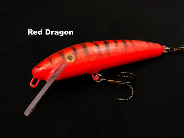 "Slammer Tackle 5"" Shallow Minnow - Red Dragon"