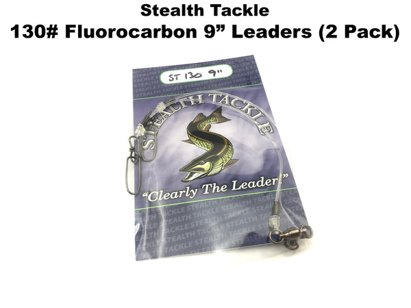 "Stealth Tackle - 130# Fluorocarbon Leader 9"" Length (2 pack - ST130-9"")"