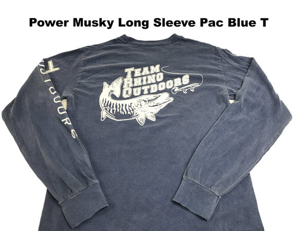 Team Rhino Outdoors Classic Power Musky Long Sleeve T Pac Blue
