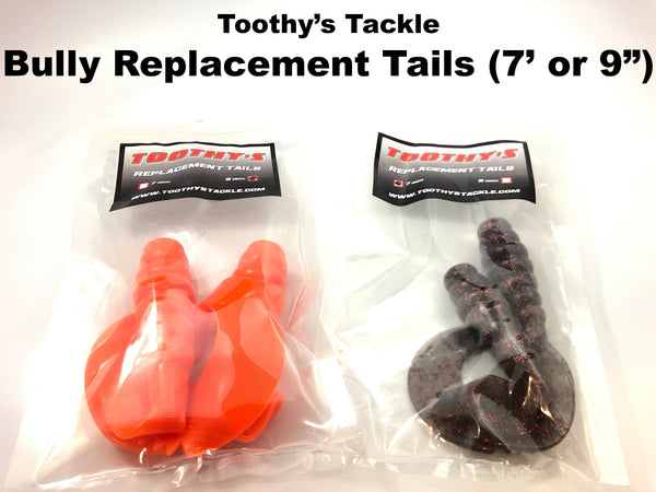 "Toothy's Tackle Bully Replacement Tails (7"" or 9"")"