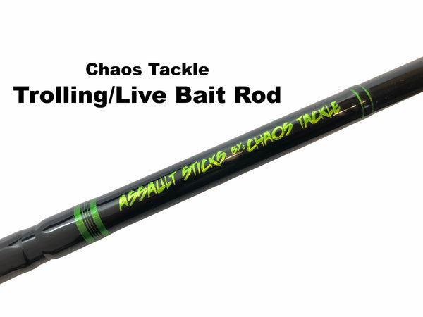 Chaos Tackle Assault Trolling/Live Bait Rod ($120 plus $15.95 shipping)