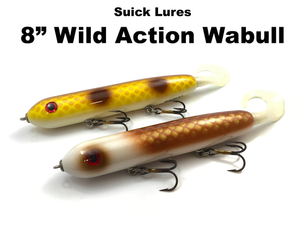 "Suick Lures 8"" Wild Action Wabull"