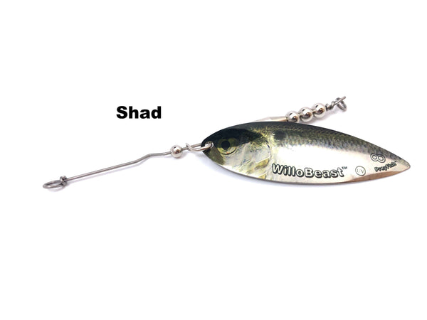 Whale Tail Plastics Willow Blade Attachment - Shad