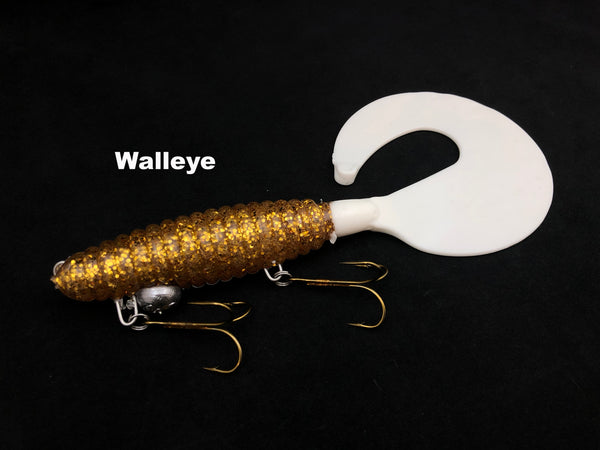 "Whale Tail Plastics 8"" Whale Tail - Walleye"