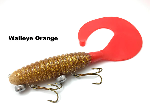 "Whale Tail Plastics 14"" Whale Tail - Walleye Orange"