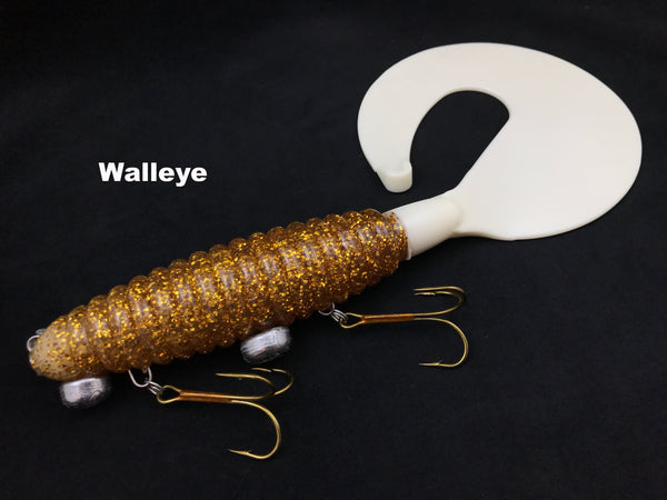 "Whale Tail Plastics 14"" Whale Tail - Walleye"