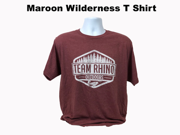 TRO - Wilderness Short Sleeve T Shirt Maroon