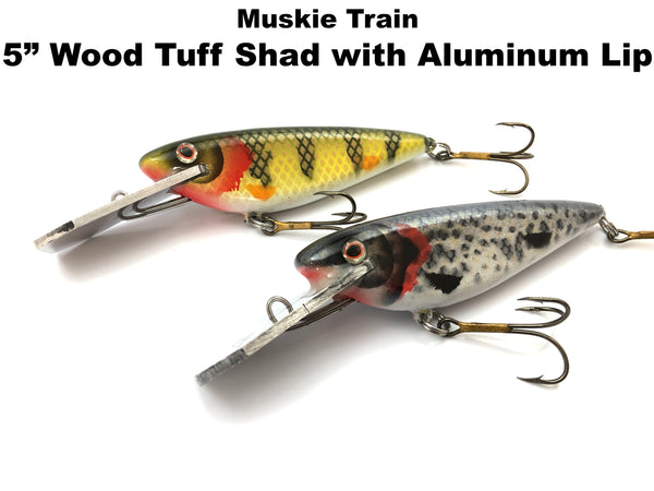 "Muskie Train 5"" Wood Tuff Shad with Aluminum Lip"