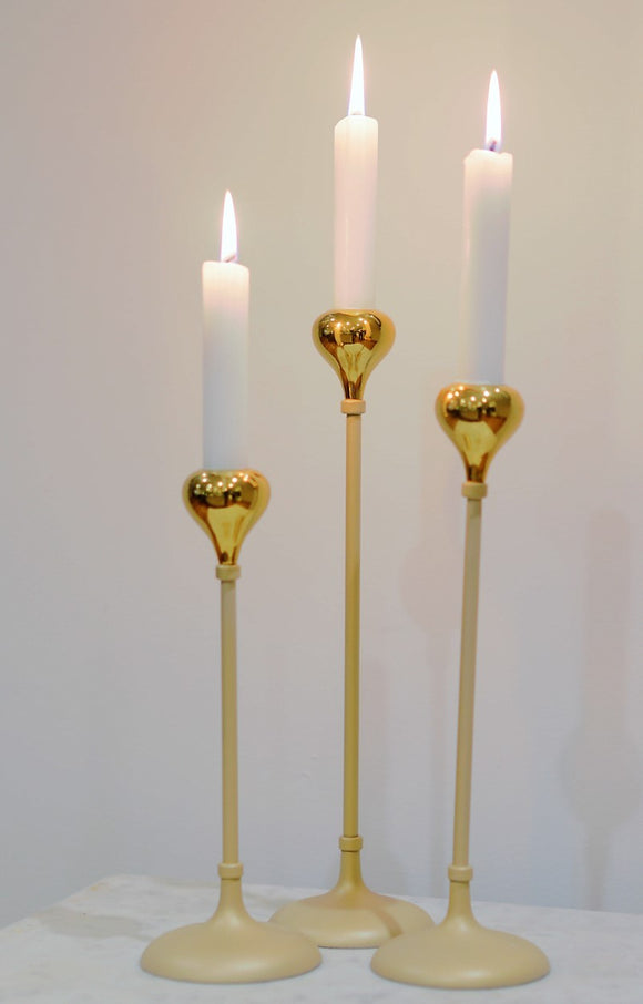 Tear Drop Candle Stand 28cm - JK-115952 BB
