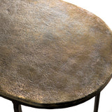 Olivia oval Side table Br S/2 - GH-931 SBR - Pre order now !!