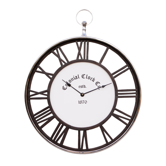 Colonial Wall Clock Dark wood 40cm - GGI-77613 SB