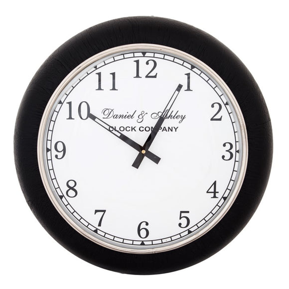 Black Leather clock S - GH-754 SBl - Limited stock available !