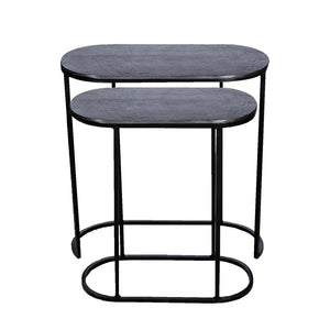 Olivia oval Side table BLN S/2 - GH-931 SBN - PRE ORDER NOW !!