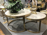 Bella Coffee table Marble Top set of 2    GGI-399 B  - Back in stock !!